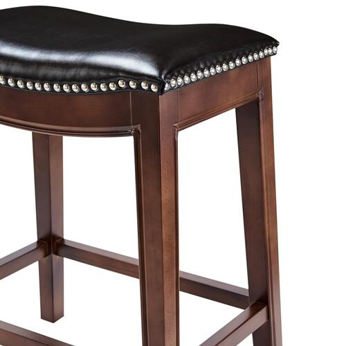 Elmo Bonded Leather Counter Stool, Brown