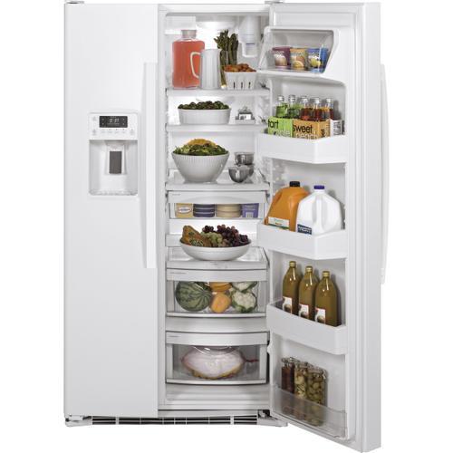 Gallery - GE® ENERGY STAR® 25.3 Cu. Ft. Side-By-Side Refrigerator