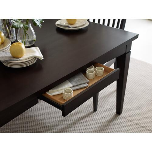 Gathering Rect to Square Leg Table - Peppercorn