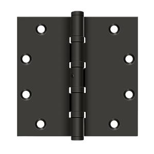 """5"""" x 5"""" Square Hinges, Ball Bearings - Oil-rubbed Bronze"""