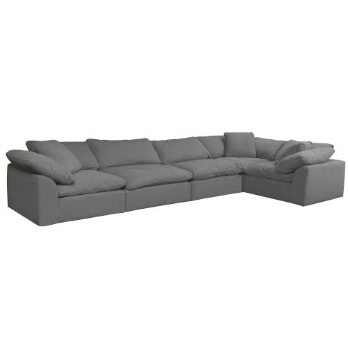 Product Image - Cloud Puff Slipcovered Modular Sectional Sofa - Color 391094 (5 Piece)