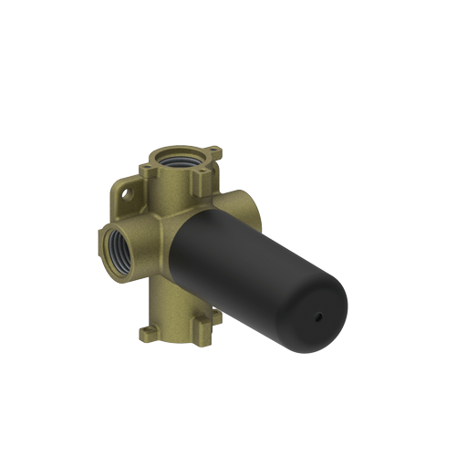 """M-series - 3/4"""" concealed diverter with 3 outlets and volume control valve - rough"""