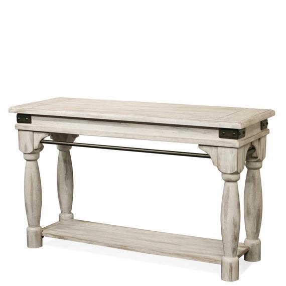 Riverside - Regan - Sofa Table - Farmhouse White Finish