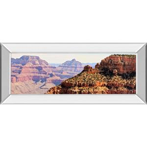 """Grand Canyon Panorama V"" By Sylvia Coomes Mirror Framed Print Wall Art"