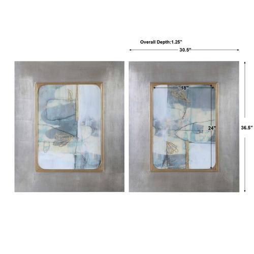 Gilded Whimsy Framed Prints, S/2