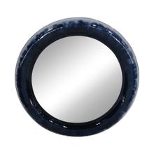 "Metal 36"" Round Mirror, Blue"