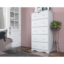 See Details - 5351 - Five-Super Jumbo Drawer Chest - White
