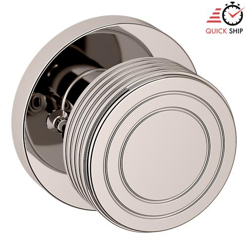 Baldwin - Polished Nickel with Lifetime Finish 5045 Estate Knob with 5046 Rose