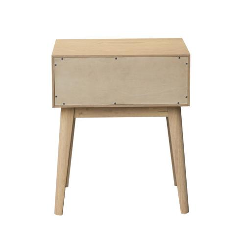Light Brown Cane Nightstand