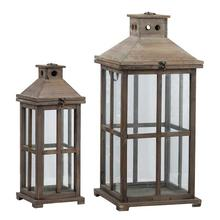 View Product - S/2 Garden Candle Lanterns
