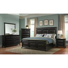 Calloway Black Bedroom - Queen Bed, Dresser, Mirror, Chest, and Night Stand