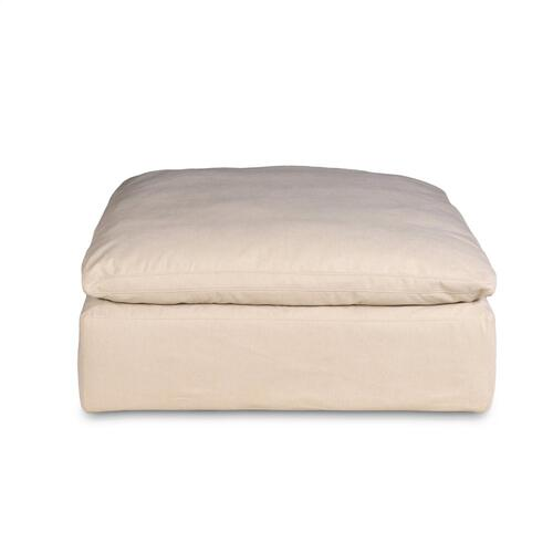 Cloud Puff Slipcovered Modular L Shaped Sectional Sofa w/Ottoman - 391084 (5 Piece)