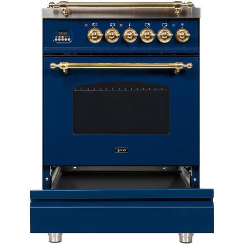 24 Inch Blue Dual Fuel Liquid Propane Freestanding Range