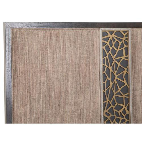 Magnussen Home - Complete Cal.King Panel Bed w/Uph./PU Fretwork HB