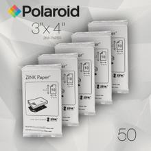 Polaroid ZINK Zero Ink Paper for Z340 Camera and GL10 Printer, 3-inch by 4-inch - 50 Pack