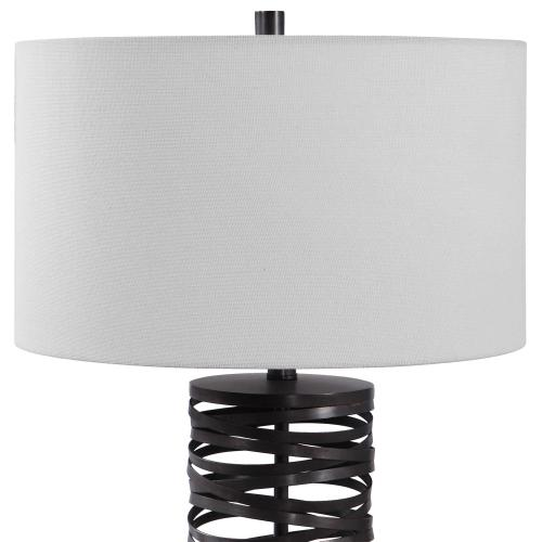 Alita Rust Black Table Lamp