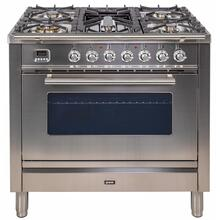 Professional Plus 36 Inch Gas Liquid Propane Freestanding Range in Stainless Steel with Chrome Trim