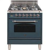 30 Inch Blue Grey Natural Gas Freestanding Range