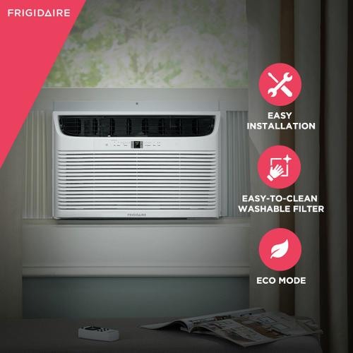 Frigidaire - Frigidaire 25,000 BTU Window Air Conditioner with Supplemental Heat and Slide Out Chassis