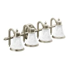 Waterhill Brushed nickel four globe bath light