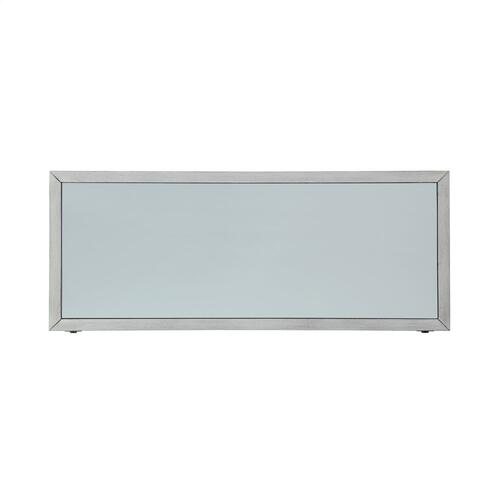 2-door and Adjustable Inner Shelf Console, Silver