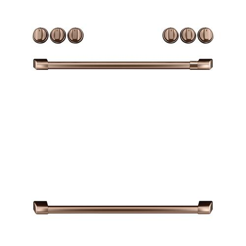 Cafe - Café™ Front Control Gas Knobs and Handles - Brushed Copper