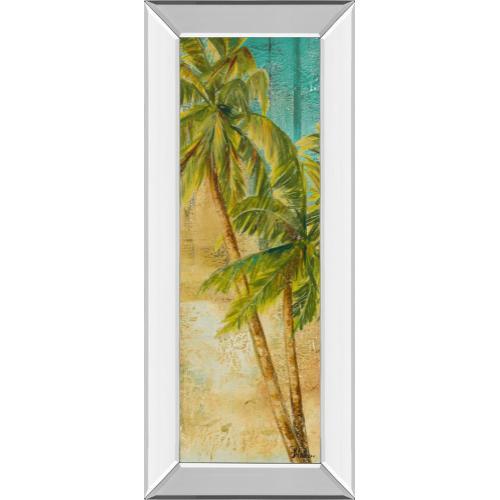 "Classy Art - ""Beach Palm Panel 1"" By Patricia Pinto Mirror Framed Print Wall Art"