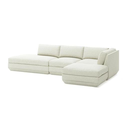 Product Image - Podium 4PC Lounge Sectional B New Copenhagen Fossil / Right Facing