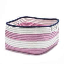 "Nautical Stripe Basket AU41 Pink Navy 14"" X 10"""