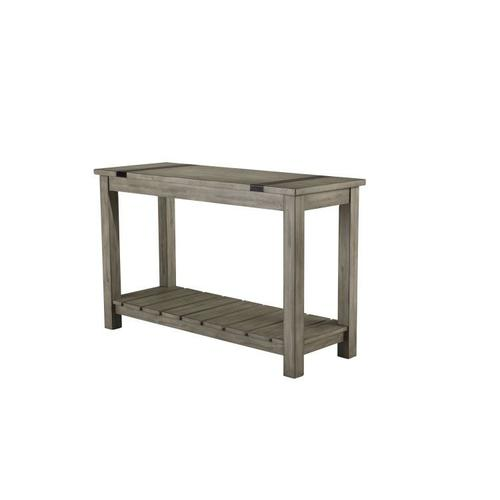 Nelson Rustic Brown Console Table, Grey