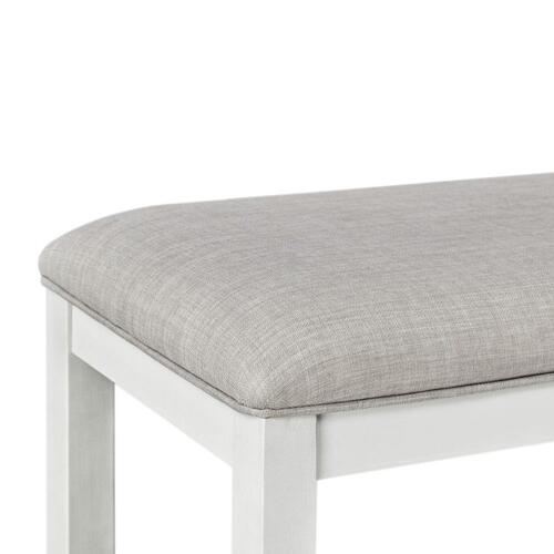 16795 In By Standard Furniture In Jackson Ms Kyle Light Counter Height Upholstered Bench White