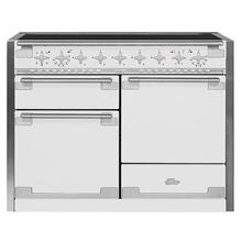 AGA Elise 48 Induction White with Chrome trim