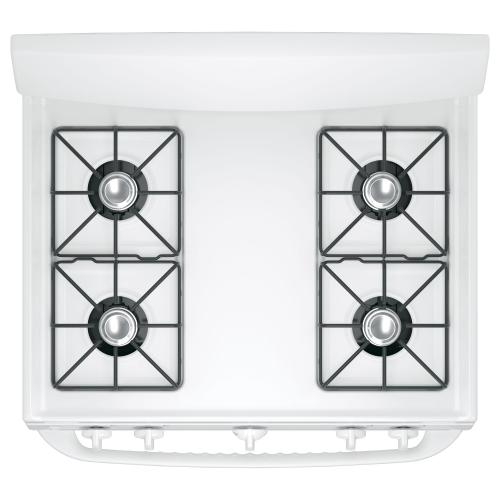 """GE Appliances Canada - GE 30"""" Gas Freestanding Range with Broil Drawer White - JCGBS10DEMWW"""