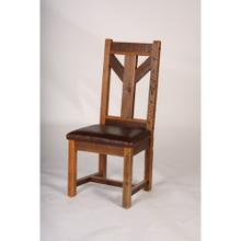 Windy Stable - Side and Arm Chair With Leather Seat - (side Chair)