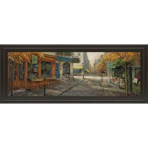"""Quaint City Nostalgia"" By Ruane Manning Framed Print Wall Art"