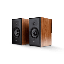 LARGE PREMIUM BOOKSHELF SPEAKERS (PAIR) in Brown Walnut