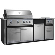 "Appliance Ready Pre-Assembled 42"" Designer Island Black"