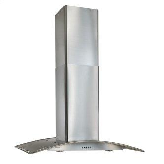 Broan™ 36-Inch Arched Stainless Steel, Island Hood