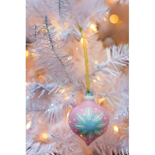 "3""x 3.75"" Pink Sugarlane Ornament"
