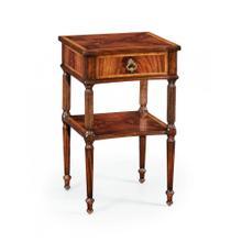 Regency style mahogany bedside table