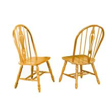 Keyhole Dining Chair - Light Oak (Set of 2)
