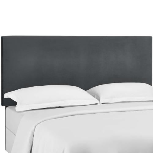 Taylor Full / Queen Upholstered Performance Velvet Headboard in Gray