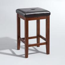 UPHOLSTERED SQUARE SEAT 2PC COUNTER STOOL SET