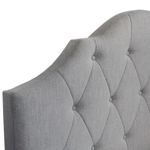 Tufted Upholstered Queen Bed in Mist Grey