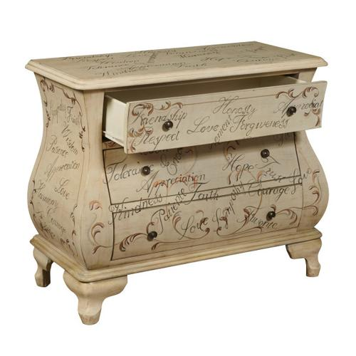 Words of Encouragement Wooden Bombay 3 Drawer Chest
