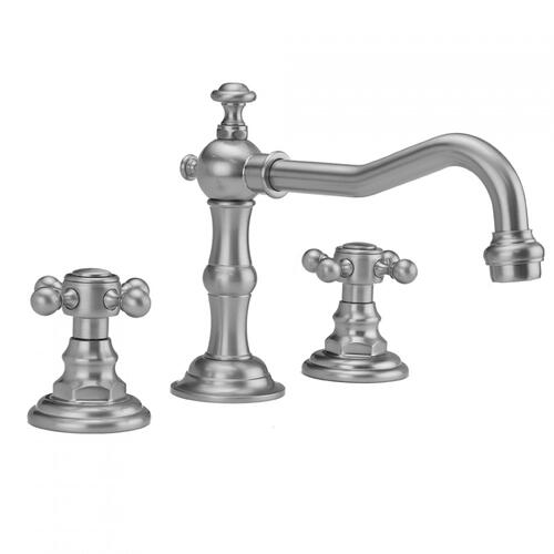 Matte Black - Roaring 20's Faucet with Ball Cross Handles & Fully Polished & Plated Pop-Up Drain