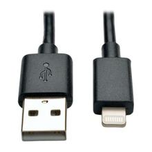 USB-A to Lightning Sync/Charge Cable, MFi Certified - Black, M/M, USB 2.0, 10 in. (0.3m)