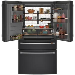 ENERGY STAR® 27.8 Cu. Ft. Smart 4-Door French-Door Refrigerator - MATTE BLACK