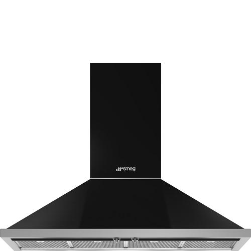 "48"" Portofino Chimney Hood, Black"