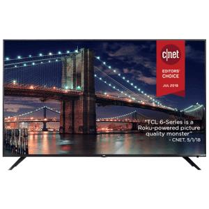 "TCL 65"" Class 6-Series 4K UHD Dolby Vision HDR Roku Smart TV - 65R617"